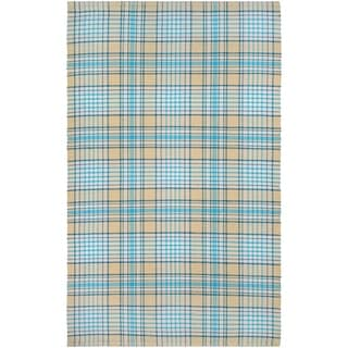 Couristan Bar Harbor Cape Plaid/Butterscotch-Aqua Area Rug (3' x 5')