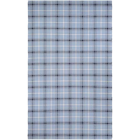 Maine Stay Plaid Blue Area Rug - 8' x 10'