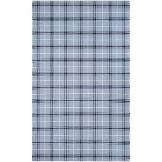 Couristan Bar Harbor Cape Plaid/Blue Jay-Black Area Rug (3' x 5')