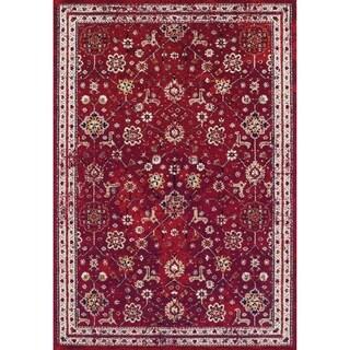 Couristan Vintage Bijar/Claret Rug (5'3 x 7'6)