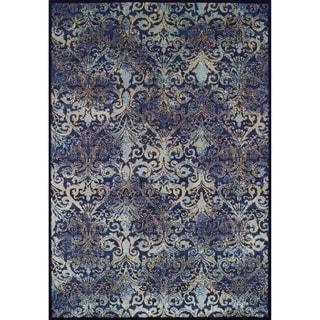 Couristan Royal Arabesque Aqua/Denim Rug (5'3 x 7'6)