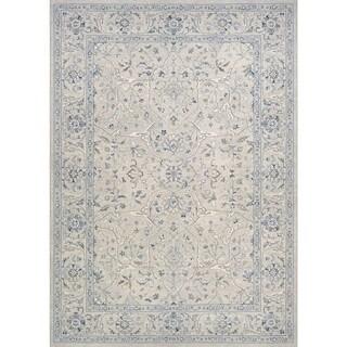 Couristan Sultan Treasures Floral Yazd/Grey Rug (6'6 x 9'6)