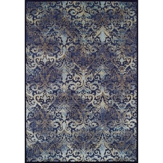 Couristan Vintage Royal Arabesques/Denim-Aqua Rug (3'11 x 5'3)