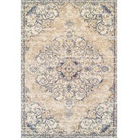 "Couristan Vintage Antique Ardebil/Pebble Beige Area Rug - 5'3"" x 7'6"""
