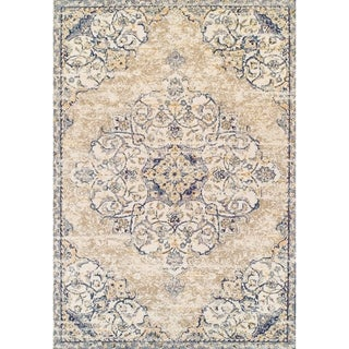 Couristan Vintage Antique Ardebil/Pebble Beige Area Rug - 5'3 x 7'6