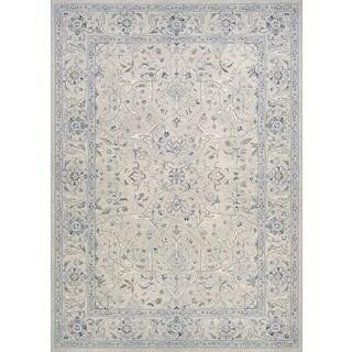 Couristan Sultan Treasures Floral Yazd/Grey Rug (7'10 x 11'2)