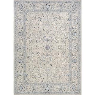 Couristan Sultan Treasures Floral Yazd/Grey Rug (5'3 x 7'6)