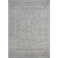 Couristan Sultan Treasures Floral Yazd Slate Blue Area Rug - 7'10 x 11'2