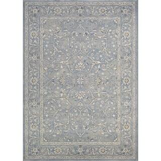 Couristan Sultan Treasures Floral Yazd/Slate Blue Rug (5'3 x 7'6)