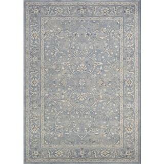 Couristan Sultan Treasures Floral Yazd/Slate Blue Rug (2' x 3'7)