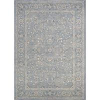 Couristan Sultan Treasures Floral Yazd/Slate Blue Area Rug - 6'6 x 9'6