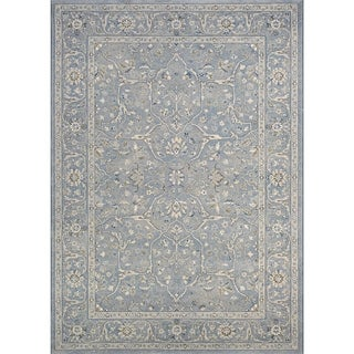 Couristan Sultan Treasures Floral Yazd/Slate Blue Rug (3'11 x 5'3)