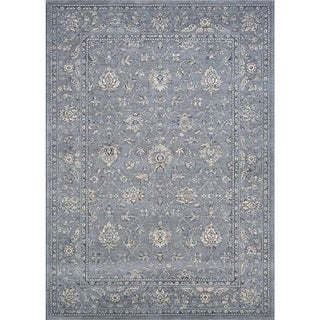 Couristan Sultan Treasures All Over Mashhad/Slate Blue Area Rug - 3'11 x 5'3