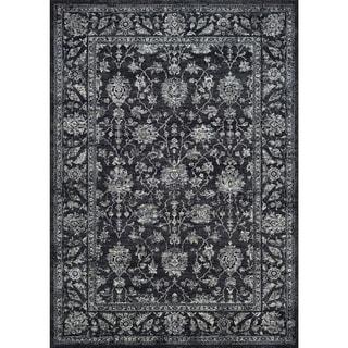 Couristan Sultan Treasures All Over Mashhad/Black Rug (5'3 x 7'6)