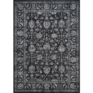 Couristan Sultan Treasures All Over Mashhad/Black Rug (2' x 3'7)