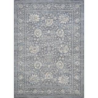 Couristan Sulta Treasures Persian Isfahan/Slate Polypropylene Area Rug (5'3 x 7'6)