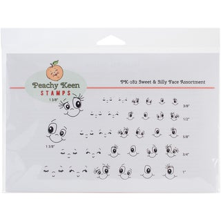 Peachy Keen Stamps Clear Face Assortment 32/Pkg-Sweet & Silly