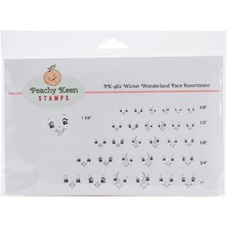 Peachy Keen Stamps Clear Face Assortment 31/Pkg-Winter Wonderland