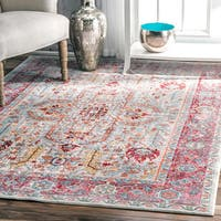 """nuLOOM Traditional Vintage Inspired Red Rug (7'10 x 10'10) - 7'10"""" x 10'10"""""""