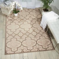 Nourison Aloha Cream Indoor/Outdoor Rug - 7'10 x 10'6