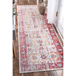 nuLOOM Traditional Vintage Inspired Red Runner Rug (2'6 x 8')|https://ak1.ostkcdn.com/images/products/14092684/P20702068.jpg?impolicy=medium