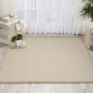 kathy ireland River Brook Taupe/Ivory Area Rug by Nourison (5'2 x 7'5)