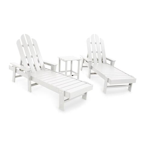 POLYWOOD® Long Island 3-Piece Outdoor Chaise Lounge Set