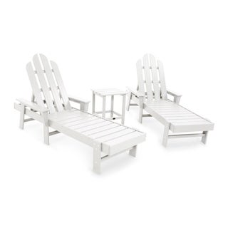 POLYWOOD Long Island Chaise 3-piece Set