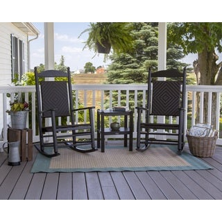 POLYWOOD Jefferson 3-piece Woven Rocker Set
