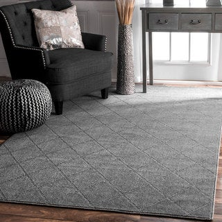 nuLOOM Contemporary Handmade Trellis Grey Rug (7'6 x 9'6)
