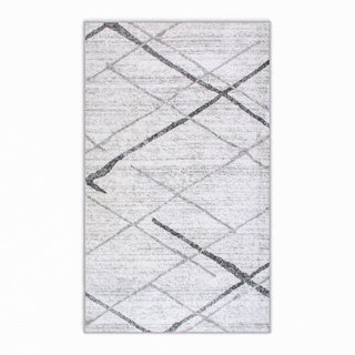 nuLOOM Contermporary Striped Grey Rug (3' x 5')