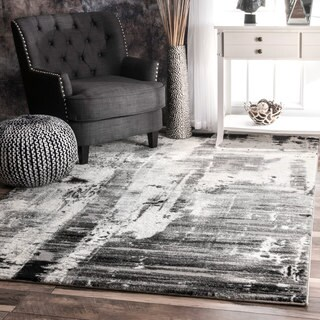 nuLOOM Contemporary Abstract Grey Rug (5'3 x 7'7)