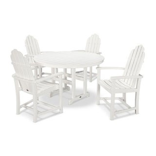 POLYWOOD® Classic 5-Piece Outdoor Adirondack Chair Dining Set