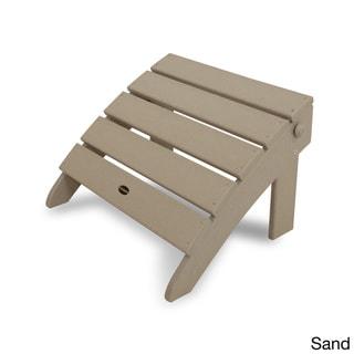POLYWOOD® Classic Adirondack Chair Ottoman (Sand)