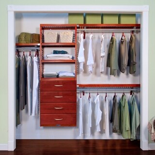 Premier Red Mahogany 4-drawers Closet Organizer