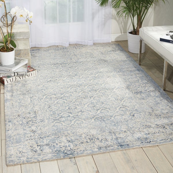 kathy ireland Desert Skies Blue Area Rug by Nourison - 9' x 12'