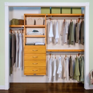 Premier Honey Maple 4-drawer Closet Organizer