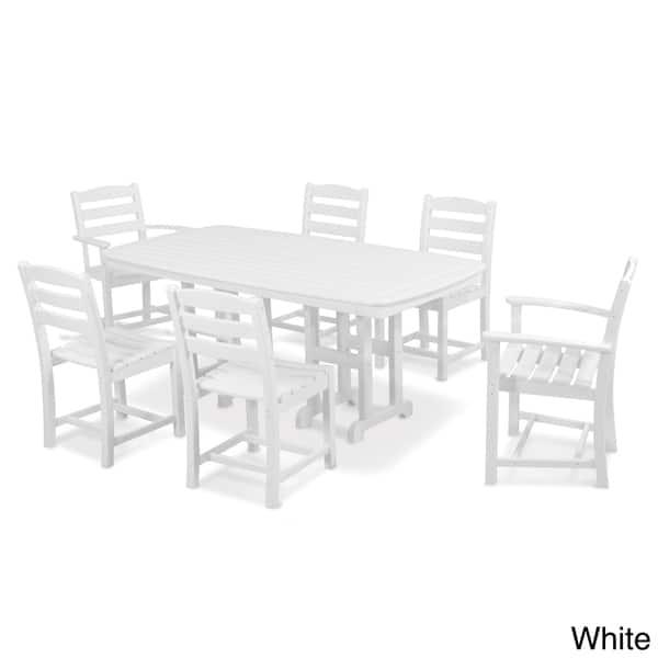 ® Garden Bistro Set Table casa.pro 2 x Chair Dining Set Furniture Metal White