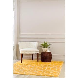 Persian Rugs Mango/White Abstract Trellis Area Rug (7'10 x 10'6)