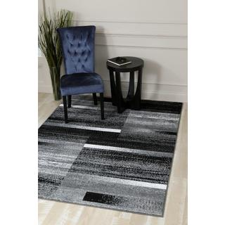 Persian Rugs Pop of Grey Modern Abstract Area Rug (2'0 x 3'4)