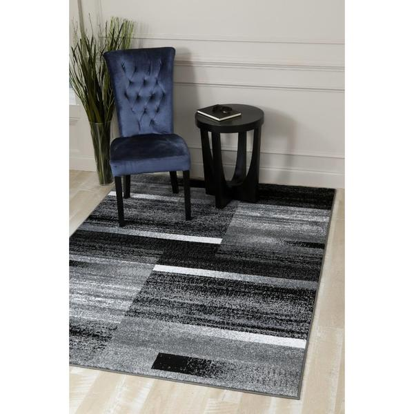"Persian Rugs Modern Abstract Pop of Grey Area Rug - 7'10"" x 10'6"""