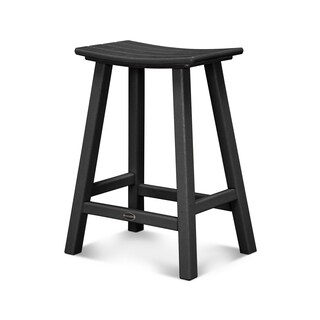 POLYWOOD Traditional 24-inch Outdoor Saddle Bar Stool