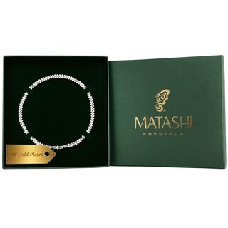 Matashi Rhodium-plated Crystal Accent 16-inch Link Rope Chain Necklace