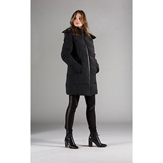 Women's Down Bonded Seam Moto Coat