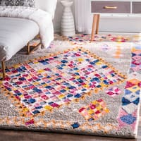 nuLOOM Soft and Plush Handmade Moroccan Grey Shag Rug (7'6 x 9'6)