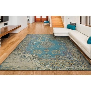 "Couristan Vintage Antique Tabriz Ivory/Blue Area Rug (2' x 3'7"")"