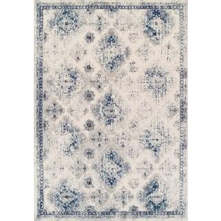Couristan Vintage Ferahan Ivory/Blue Polypropylene Rug (2' x 3'7)
