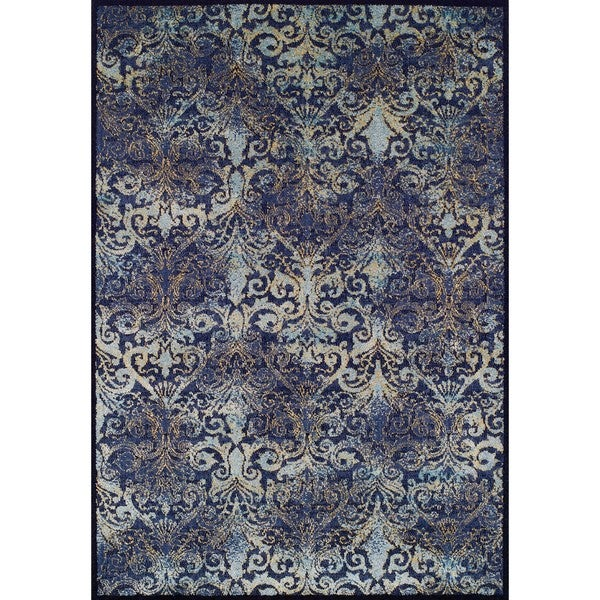 Couristan Vintage Royal Arabesques/Denim-Aqua Area Rug - 2' x 3'7""