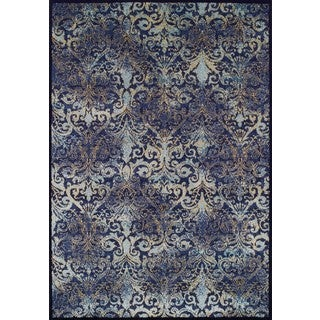 Couristan Royal Arabesques Blue Polypropylene Vintage-style Rug (2' x 3'7)