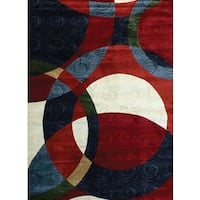Bekmez Int Passion Red Modern Area Rug - 8' x 10'